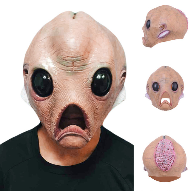 100 Brand New High Quality Alien Mask Scary Maks For S Full Face Et Horror Masks Christmas Masquerade Party