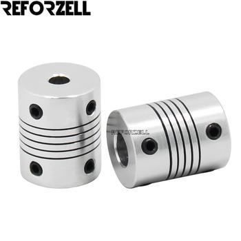 100pcs/Lot 3d printer accessories z axis aluminum flexible shaft coupling for Nema 17/23 stepper motor and 8mm lead screw