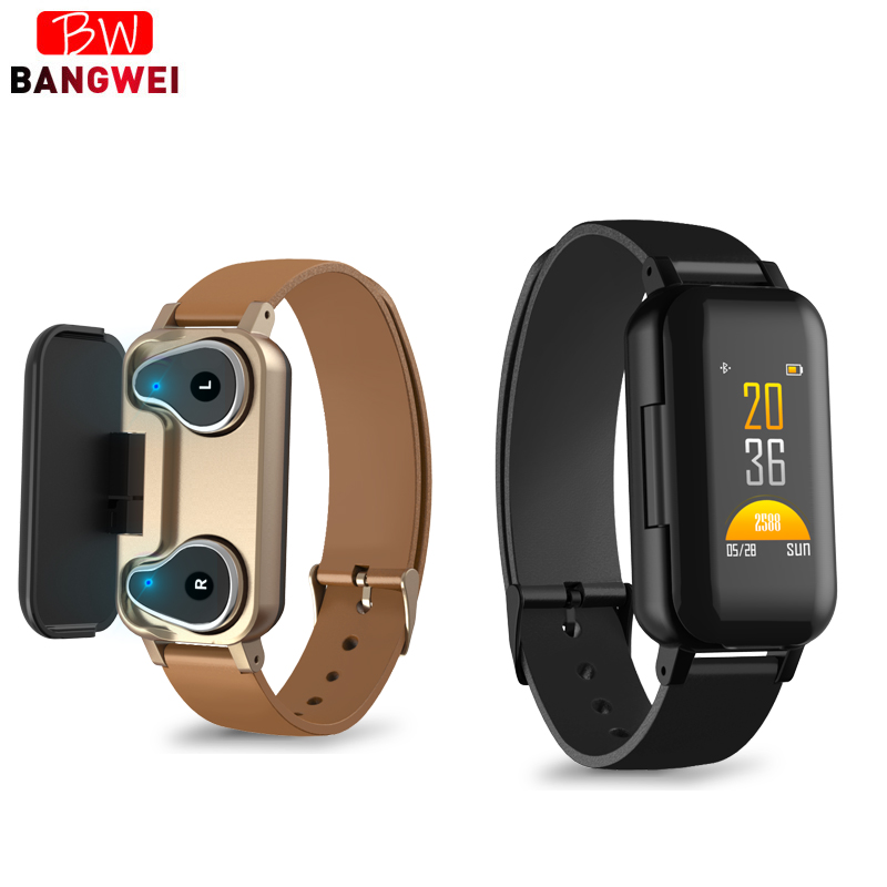 LIGE TWS Smart Binaural Bluetooth Headphone Fitness watch Heart Rate Monitor Pedometer Sport Watch Men Women For Android ios+BoxLIGE TWS Smart Binaural Bluetooth Headphone Fitness watch Heart Rate Monitor Pedometer Sport Watch Men Women For Android ios+Box