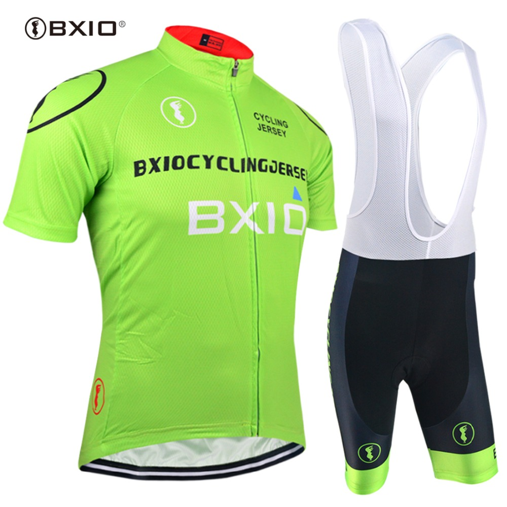 BXIO Brand Cycling Jerseys Completo Ciclismo Estivo Women Cycling Sets Clothing Short Sleeve Green Bicycle Skinsuit BX-0209G011
