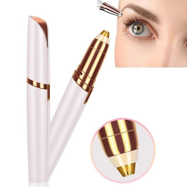NEW Brand 3 Colors Electric Eyebrow Trimmer Makeup Mini Eye Brow Shaver Razor Portable Epilator Facial Hair Remover for Women 1