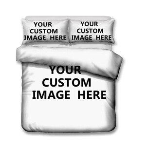 Image 2 - Juego de ropa de cama con estampado 3D, funda nórdica con patrón personalizado, Textiles para el hogar para adultos, ropa de cama con funda de almohada