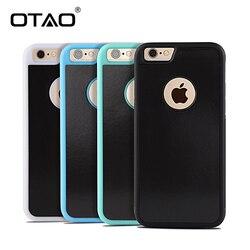 OTAO Anti-Gravité Téléphone Sac étui pour iphone X 8 7 6 S Plus Antigravité TPU Cadre Magique D'aspiration de Nano Couverture Adsorbé Étui De Voiture