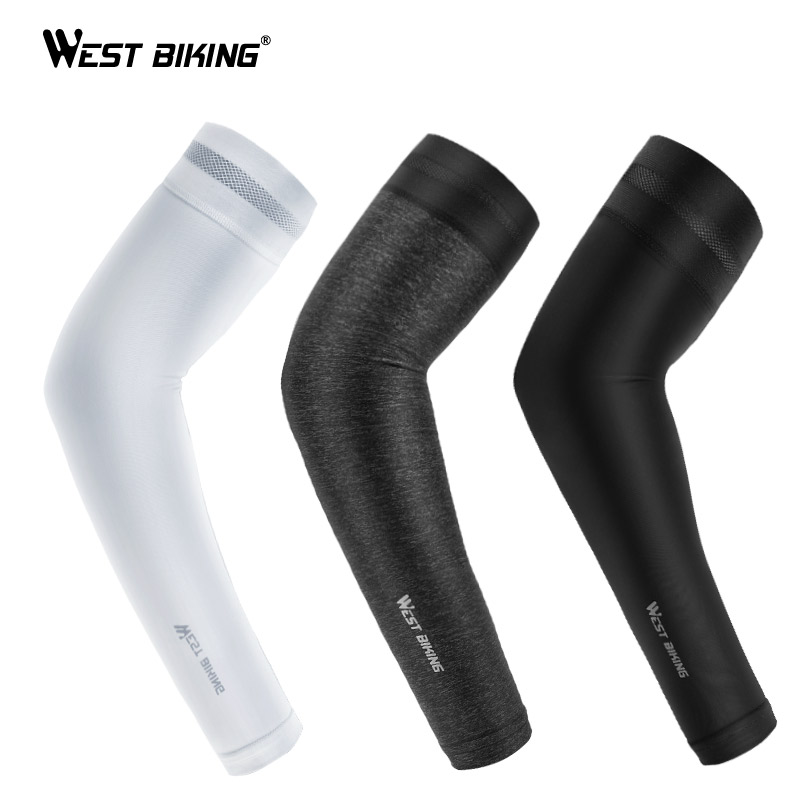 West Biking Ice Silk Sport Arm Sleeves Cycling Arm Sleeves Cover Uv Protection Outdoor Running Basketball Summer Arm Sleeves High Quality And Low Overhead