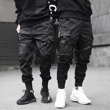 INS Cargo Harem Jogger Pants Men Multi Pockets Hip Hop Fashion Casual Track Trousers Streetwear Harajuku Hipster Sweatpants
