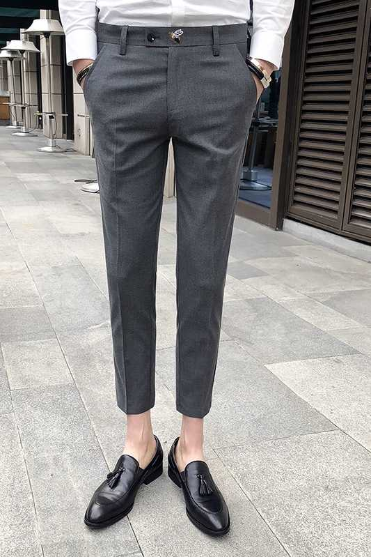 231a679238 ... Perfume Masculino Grey Mens Dress Pants Slim Fit Black Formal Pants For  Men Trouser Office Calca