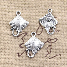 10pcs Charms stingray fish 21x13mm Antique Making pendant fit,Vintage Tibetan Silver,DIY bracelet necklace