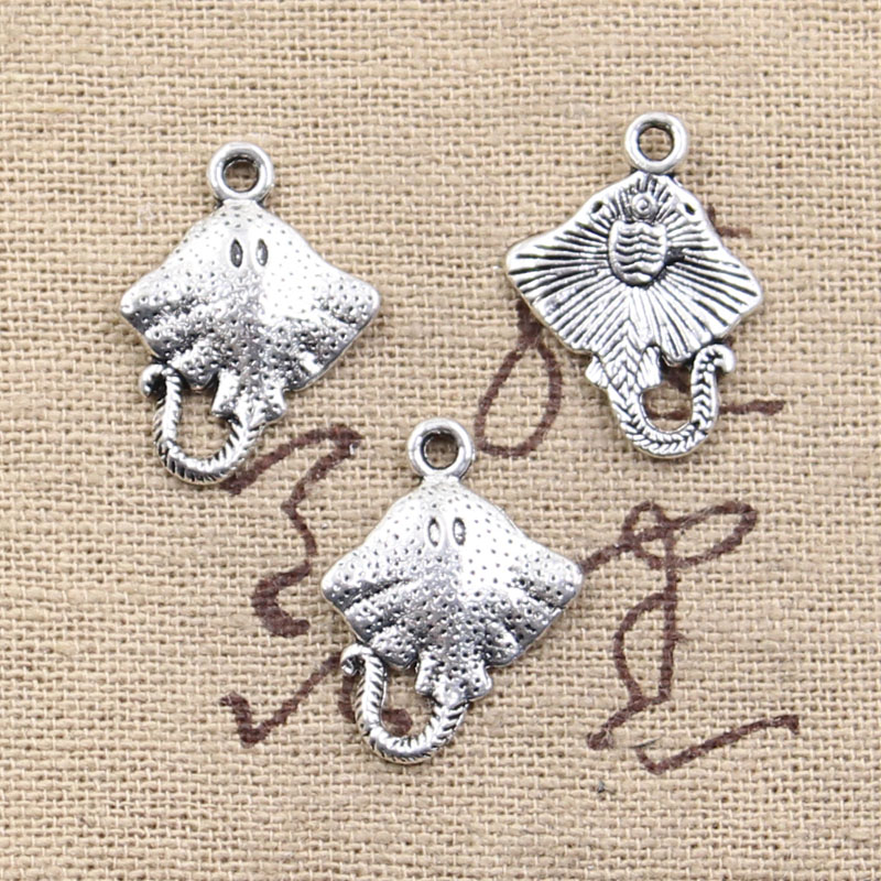 10pcs Charms stingray fish 21x13mm Antique Making pendant fit,Vintage Tibetan Silver,DIY Handmade Jewelry