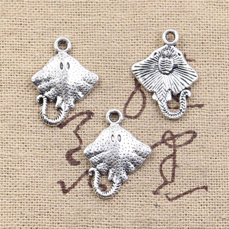 10pcs Charms stingray fish 21x13mm Antique Making pendant fit,Vintage Tibetan Silver,DIY bracelet necklace