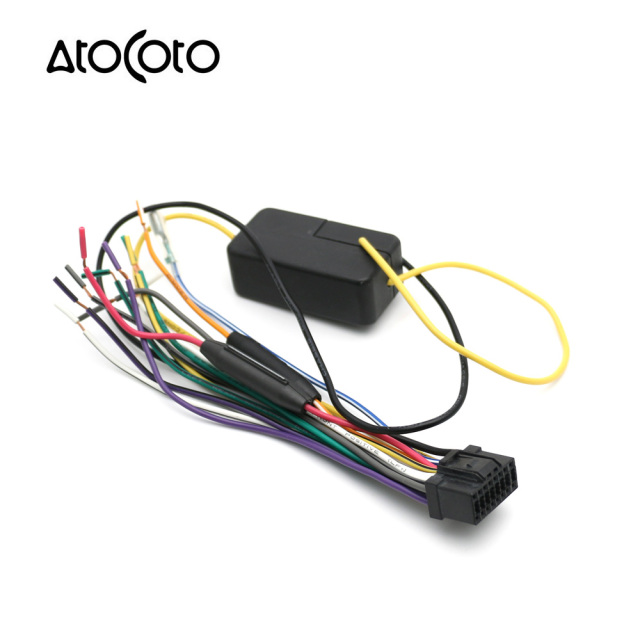 atocoto car power stereo radio wire harness with fuse cable rh aliexpress com Pioneer Head Unit Wiring Diagram Car Stereo Wiring Colors