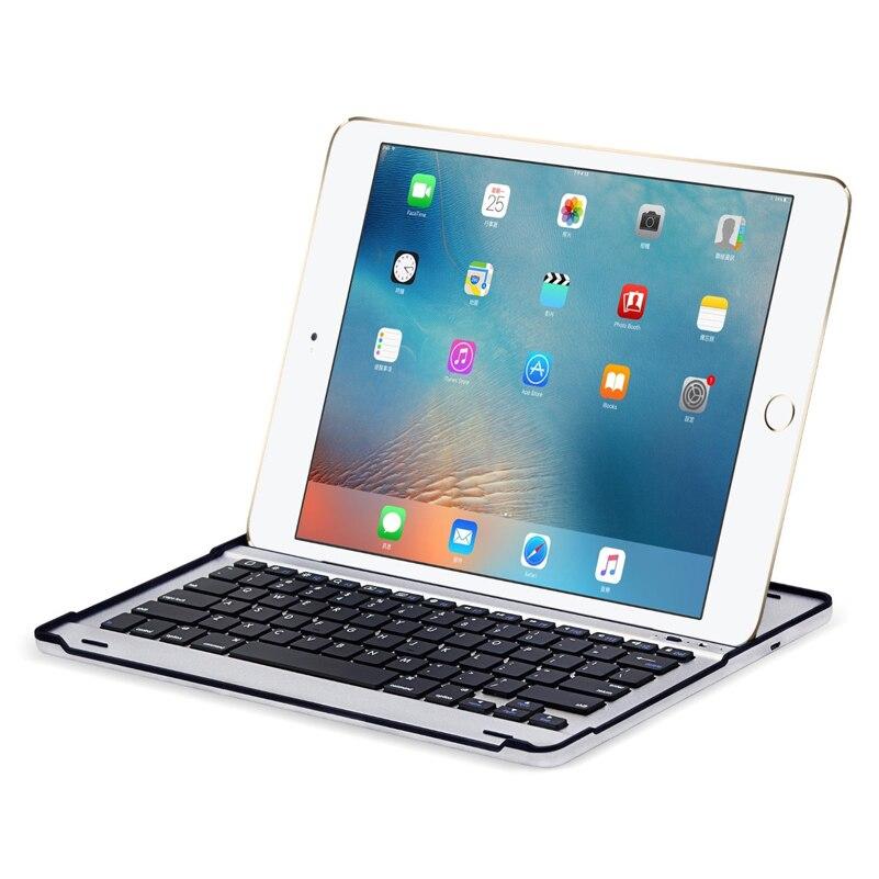 IPad pro 12.9 étui avec clavier 2017 2015,360 rotatif sans fil clavier Smart Folio 180 support pivotant coque rigide couverture Auto