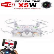 2016 Nieuwste SYMA rc drone X5W WIFI FPV foto video real-time transmissie WIFI controll RC quadcopter met LED licht VS X5C U842