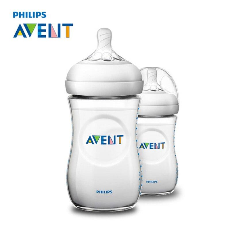AVENT 2 шт 260 мл детская бутылочка для кормления без бисфенола младенческий сок молоко вода натуральные полипропиленовые бутылки чашка гаррафа Кормление