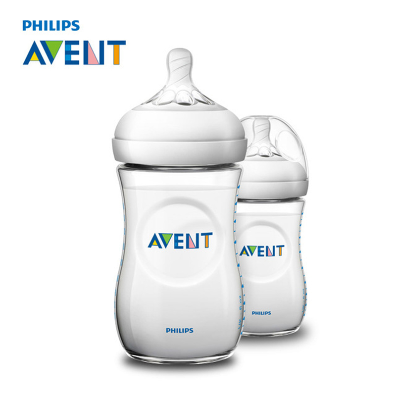 AVENT 2pcs 260ml Baby Feeding Bottle BPA Free Infant Juice Milk Water Natural Polypropylene Bottles Feeding Cup Garrafa Nursing