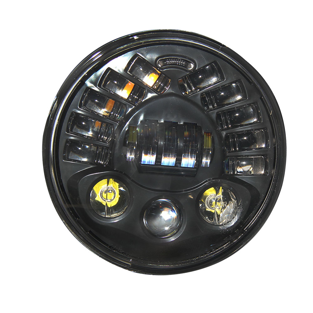 CO LIGHT Parking Light 30W 70W Hi-Lo Beam Headlamps H4 Round 7 Inch Car Headlights for Off Road Jeep Wrangler Bike colight 1pair 7 inch 30w led headlight h4 hi lo beam car styling fog light super drl parking light for jeep hummer land rover