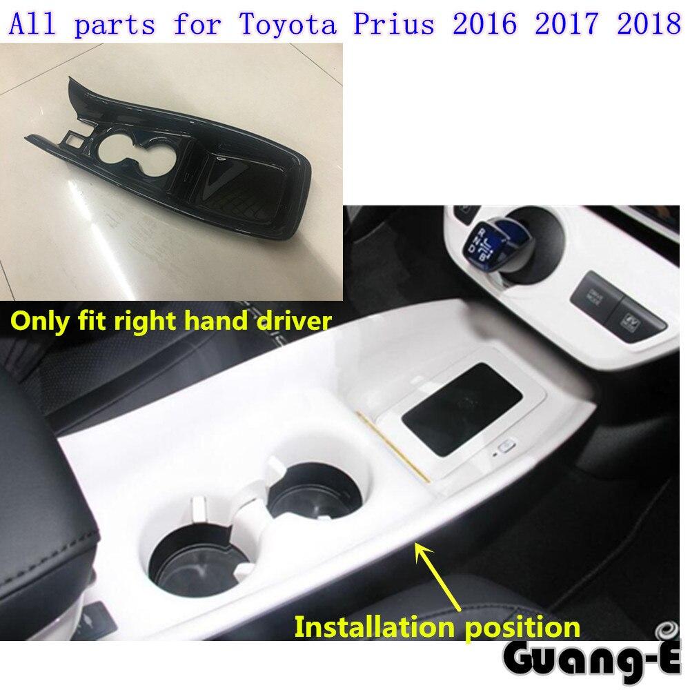 Voiture bâton ABS accoudoir gant décrochage palette tasse interrupteur bouton cadre lampe garniture panneau moulage 1 pièces pour Toyota Prius 2016 2017 2018