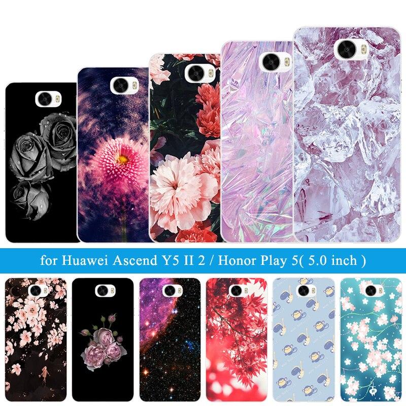 ТПУ чехлы Телефон для huawei Y5 II Y5ii <font><b>Y52</b></font> Обложка Ice узор 5,0 &#8220;силиконовый чехол для Honor 5A LYO-L21 CUN-U29 крышка