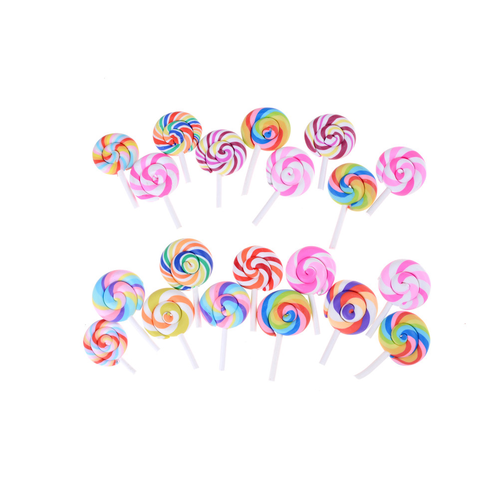 5Pcs Dollhouse Miniature Snacks Candy LolliDoll House Accessories Toys GVJB