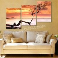 3d full square diamond painting tree sunset triplet 5d diy rhinestone sewing cross stitch art home decor kit