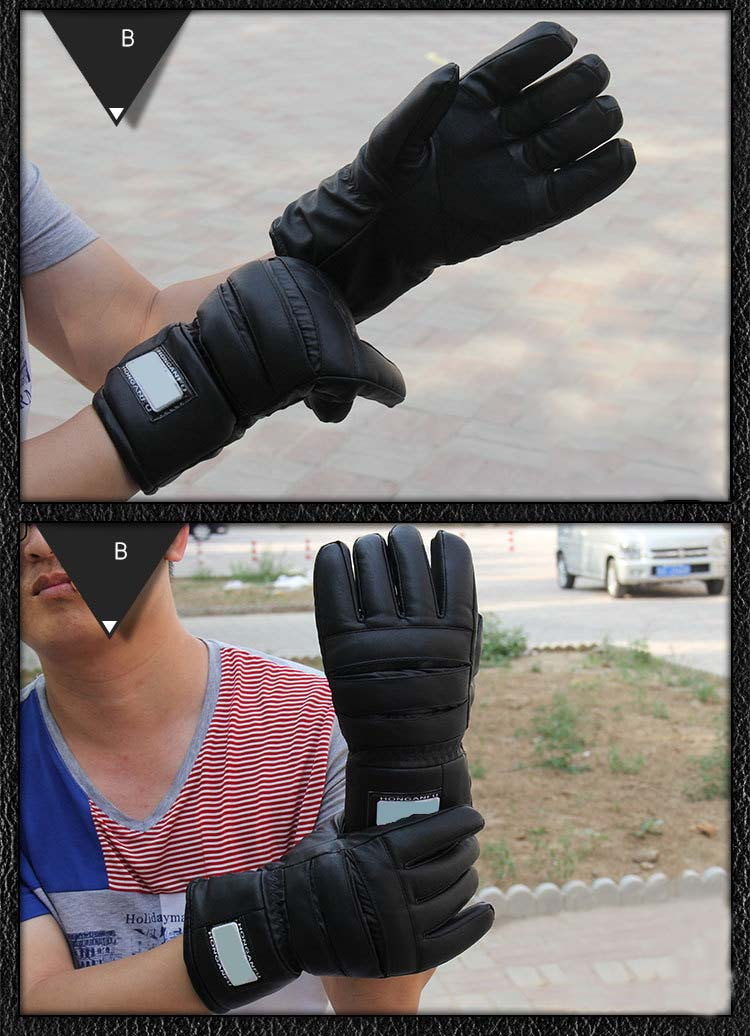 GLV1005 PU leather winter warm font b gloves b font outdoor riding driving motorcycle water and
