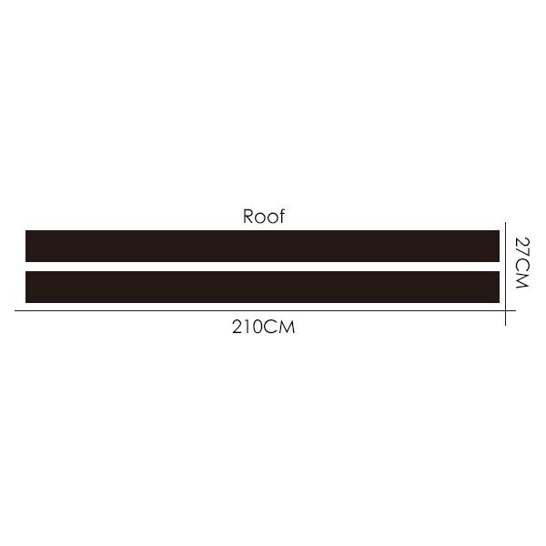 Автомобильный Стайлинг двойной ралли гоночный капот загрузки задняя крыша полосы Наклейка виниловая для Mini Cooper R56 R50 R53 F55 F56 F60 R60 R55 - Название цвета: Roof Dual Stripes