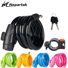 MTB Road Bicycle Lock Strong Security Safety Steel Cable Spiral Bike Mountain Colorful Electric Motorcycle Locks
