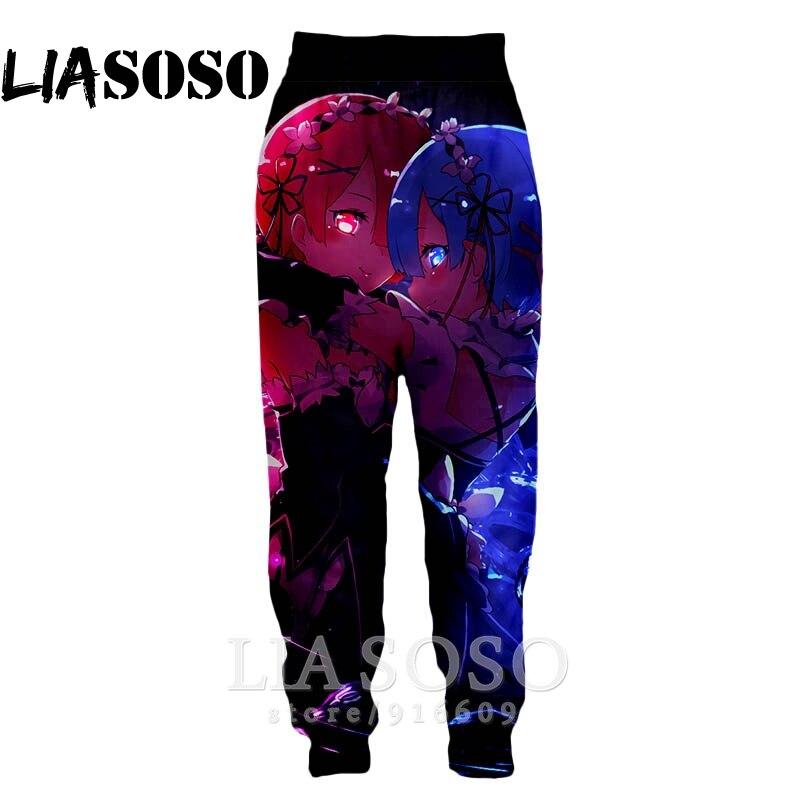 3d Print Men Women Full Length Harajuku Sweatpants Winter Cute Girl Fashion Pants Anime Homme Re Zero Rem Jogger Trousers E781