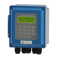 Бесплатная доставка Профессиональные Высокой Точности ультразвуковой расходомер Настенный Жидкости IP67 защиты тестер потока измеритель п