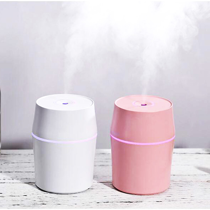 20pcs bag 200ml Mini Ultrasonic Diffuser USB Air Humidifier Car Aroma Diffuser with Colorful LED Night Lights Nano Mister Maker in Humidifiers from Home Appliances
