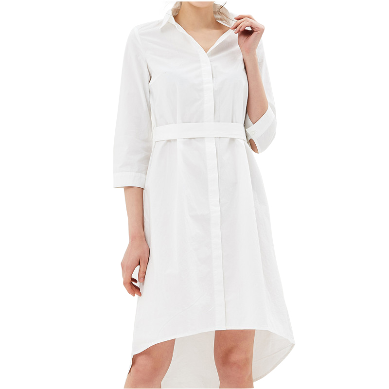 Dresses MODIS M181W00803 women dress cotton  clothes apparel casual for female TmallFS dresses dress befree for female long sleeve women clothes apparel casual spring 1811343565 15 tmallfs