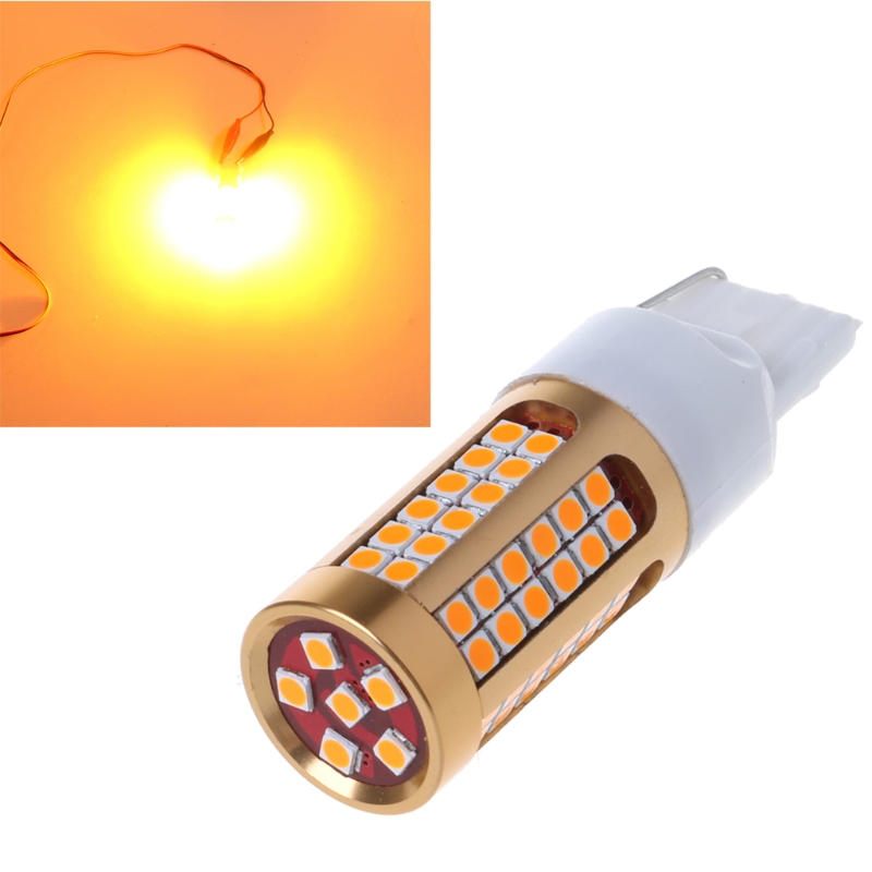 1pc 7440 T20 3030 78SMD Canbus LED Car Turn Signal Light Bulb Amber Yellow