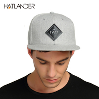 HATLANDER Vintage 1977 Cool Flat Bill Baseball Cap Women Mens Gorras Planas Snapbacks Trucker Hat