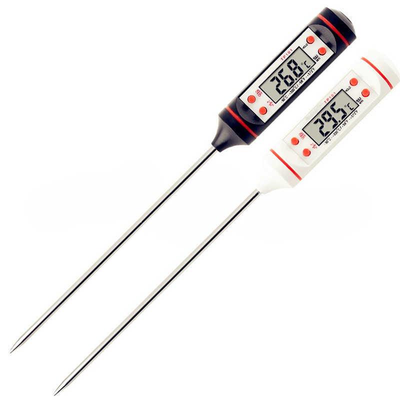 Termometr do mięs cyfrowy termometr kuchenny dla gotowanie żywności mięso kuchnia stek BBQ wanna termometr do wody kuchnia