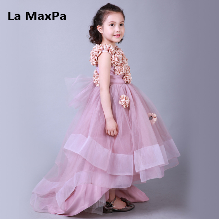 High-end handmade girls Wedding Party Pageant Dress Baby First Communion Dress Toddler Gowns Child Dress vestido vestido handmade christening wedding party pageant dress baby first communion toddler gowns child bridesmaid ballet dress