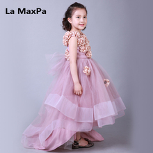 High-end handmade girls Wedding Party Pageant Dress Baby First Communion Dress Toddler Gowns Child Dress vestido