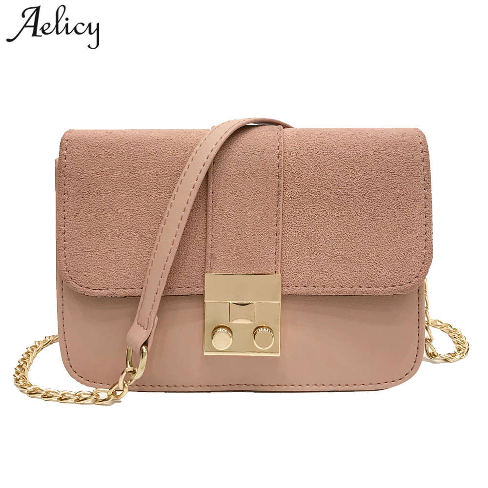 caf37812557b1 Aelicy جديد الاتجاه المرأة مصمم حقائب عالية الجودة بسيطة رفرف الرجعية  النسخة الكورية حقيبة كتف حقيبة