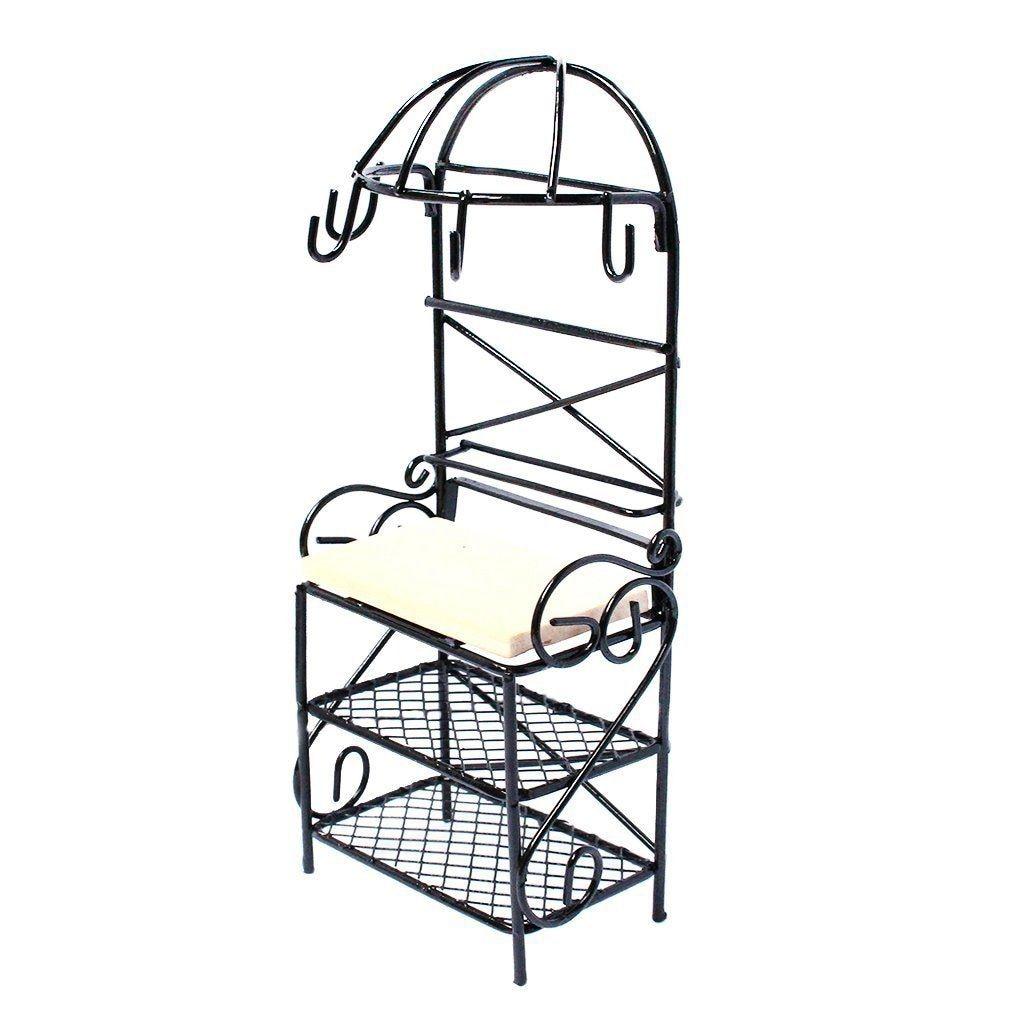 aliexpress com   buy metal storage rack shelf dollhouse miniature kitchen furniture decoration