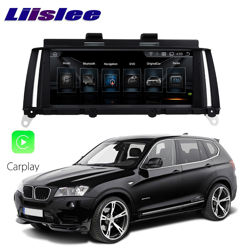 LiisLee voiture multimédia GPS Audio Hi-Fi Radio stéréo pour BMW X3 F25 2013 ~ 2017 Original NBT Style Navigation NAVI