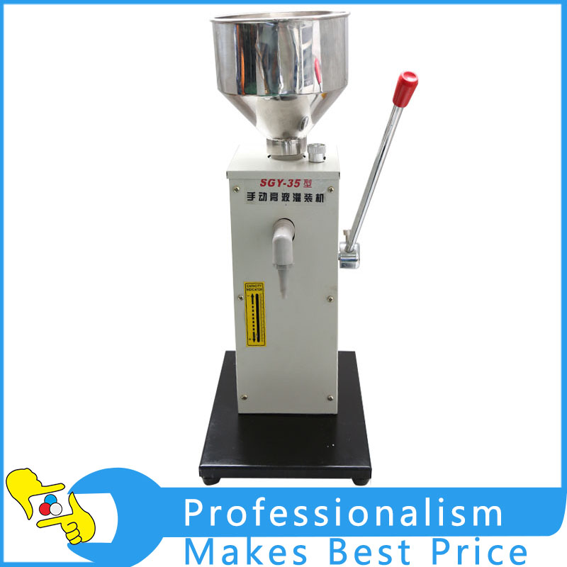 SGY-35 Manual Paste Filling Machine Liquid Filling Machine 1-50ml economic and practical manual cream paste filling machine manual liquid filling machine 5 50ml manual liquid filler factory