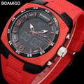 Hot!Men Sports Watch Digital Shock Dual Time LED Quartz Luminous Alarm BOAMIGO Wristwatches Outdoor Military Rubber Reloj Hombre