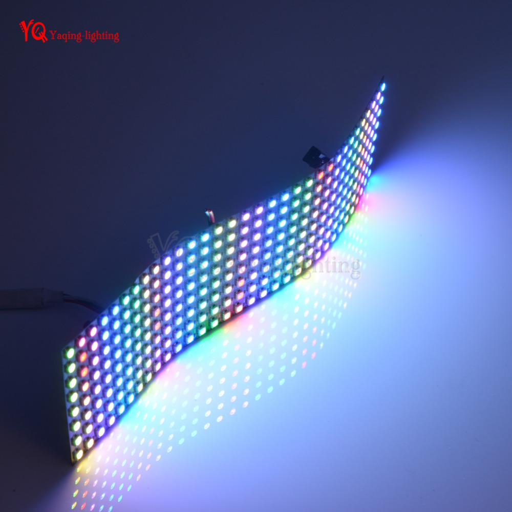 O 8 * 32 16 * 16 8 * 8 pixels WS2812B écran flexible programmé - Éclairage LED - Photo 2