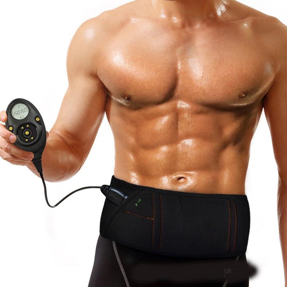 EMS electro stimulation Smart slimming massage belt Abs Abdominal Muscle Toner Core Abs Workout Belt 150