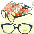 wholesales TR911 boy top TR90 bendable safety square optical frame plu adjustable strap durable pupil glasses free shipping
