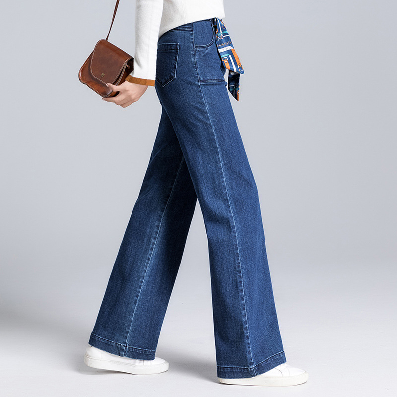Flojo Moda Ancha Nueva De Primavera 2019 Streetwear Rectos Alta Calidad Las Jeans Pantalones Azul Denim Otoño Mujeres Pierna Casual YSwxYqaZ7