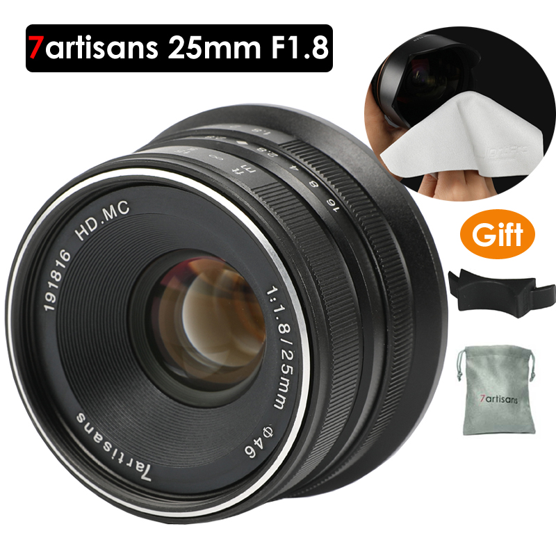 7artisans 25mm F1 8 Prime Lens to All Single Series for E Mount for Micro 4