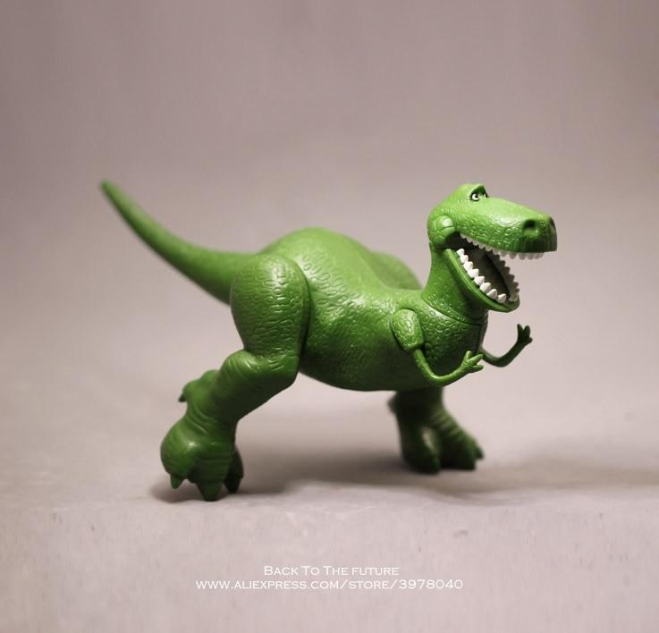 Disney Toy Story 4 Rex The Green Dinosaur Q Version 15cm PVC Action Figures Mini Dolls Kids Toys Model For Children Gift