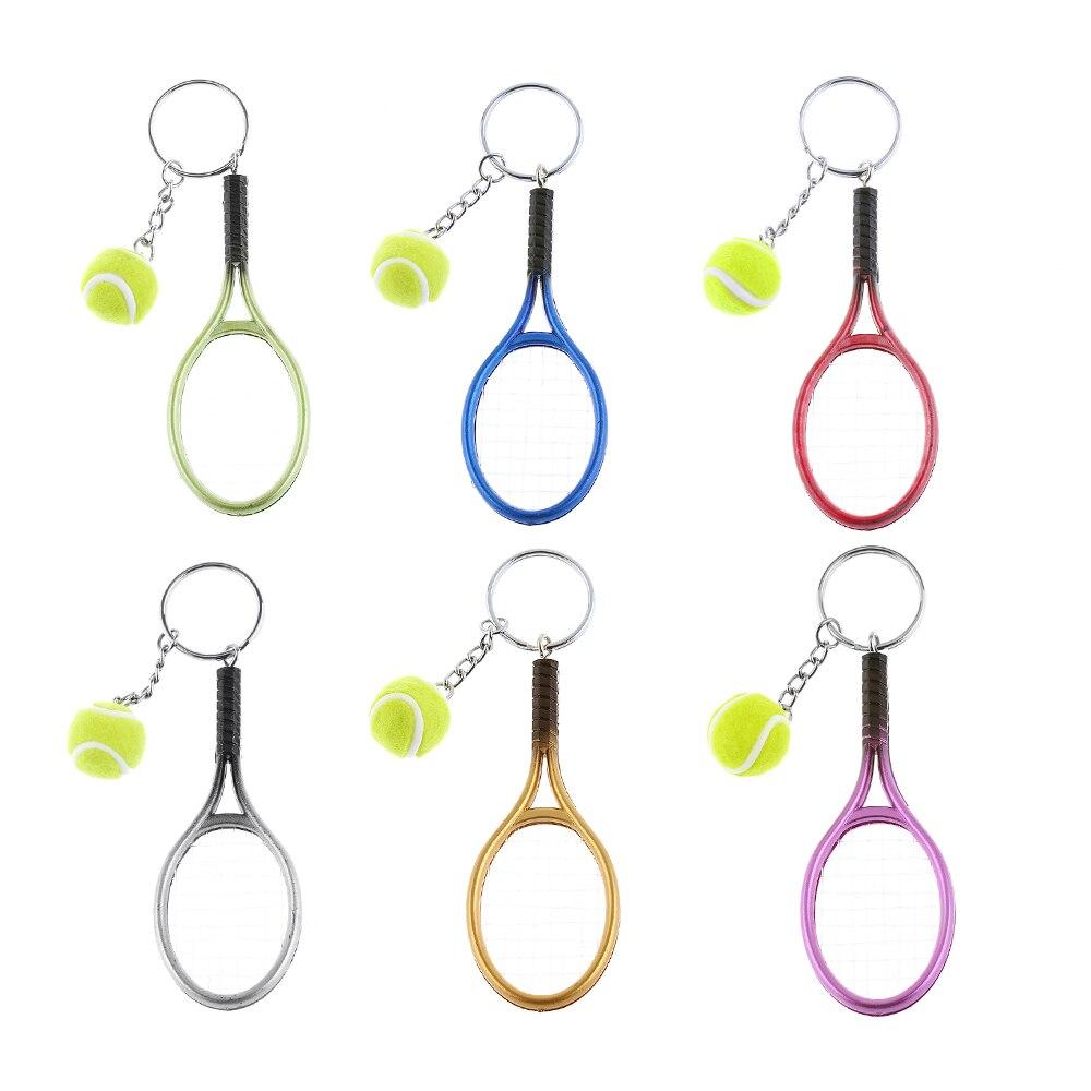 1 Pc Mini Tennis Schläger Keychain Key Ring Nette Sport Charme Tennis Ball Schlüssel Kette Auto Tasche Anhänger Keyring Geschenk 6 Farben FöRderung Der Produktion Von KöRperflüSsigkeit Und Speichel