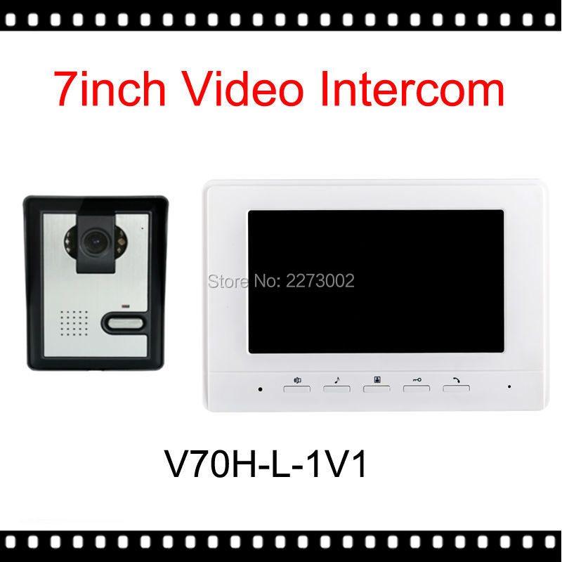 Newest 7 TFT Color Video font b Door b font Phone Intercom Doorbell System Kit IR
