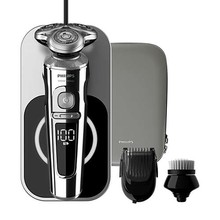 Philips Shaver S9000 Prestige wet and dry electric shaver, 9000 series SP9863/14 Washable with Qi charging stand