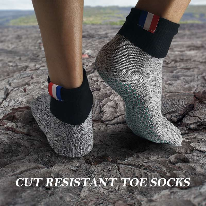 Men Women Cut Resistant Five Toe Socks Comfortable Non Slip Stockings Barefoot Socks Beach Hiking Climbing Driving Socks 5 Toe